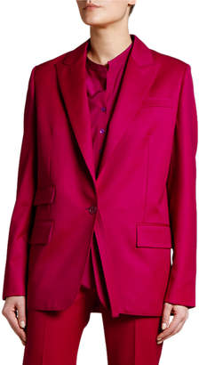 Stella McCartney Oversized One-Button Wool Blazer