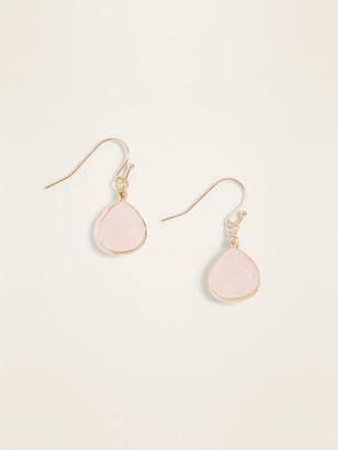 Old Navy Rose-Stone Drop Earrings for Women