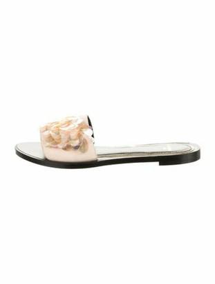 Lanvin Suede Sequin Embellishments Slides