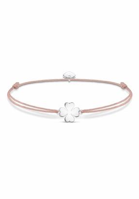 Thomas Sabo Little Secret Clover Bracelet 925 Sterling Silver/Nylon Pink