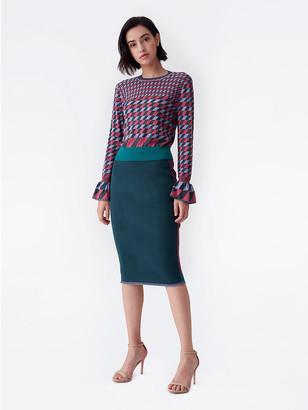 Diane von Furstenberg Joyce Knit Pencil Skirt