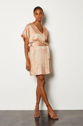 Karen Millen Jacquard Wrap Short Dress