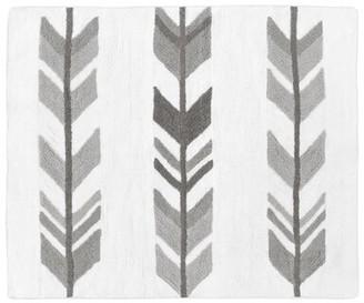 JoJo Designs Sweet Mod Arrow Cotton White/Gray Floor Rug Sweet
