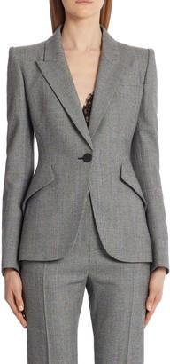 Alexander McQueen Glen Plaid Wool & Cashmere Blazer