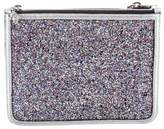 Alexander McQueen Glitter-Embellished Cosmetic Bag w/ Tags