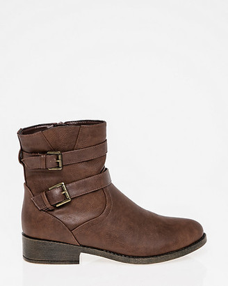 Le Château Buckle Round Toe Ankle Boot