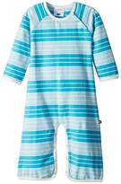 Toobydoo Aqua Stripe Bootcut Jumpsuit Boy's Jumpsuit & Rompers One Piece