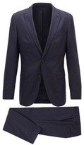 HUGO BOSS - Slim Fit Suit In Virgin Wool With Soft Construction - Dark Purple