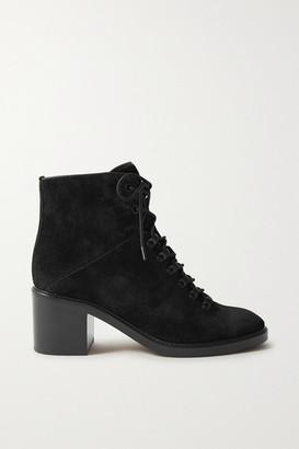 Vince Falco Lace-up Suede Ankle Boots - Black