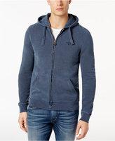 Barbour Men's Navy Garment-Dyed Full-Zip Hoodie