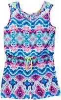 Little Mass Barbados Blue Neon Studded Romper (Toddler, Little Girls & Big Girls)