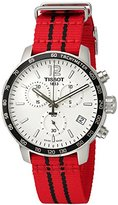 Tissot Men's 'Quickster' Swiss Quartz Stainless Steel and Nylon Automatic Watch, Color:Red (Model: T0954171703704)