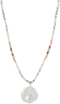 Chan Luu Seed Bead Coin Pendant Necklace