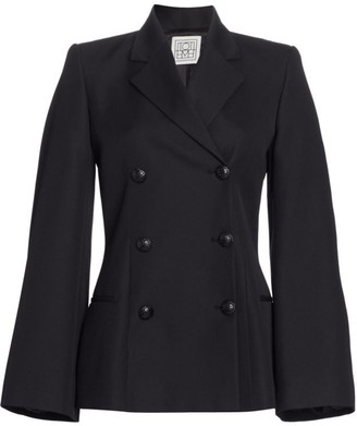 Totême Matera Bell Sleeve Double Breasted Coat