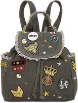 Steve Madden Wilson Medium Canvas Backpack with Patches and Pins