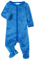Absorba Newborn/Infant Boys) Stripe Velour Footie