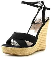 Madden-Girl Womens Viicki Canvas Open Toe Casual Platform Sandals.