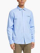 Scotch & Soda Micro Print Shirt, Light Blue