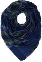 Lee Women's CHECK SCARF NAVY DARKNESS Scarf, Blue (NAVY DARKNESS)