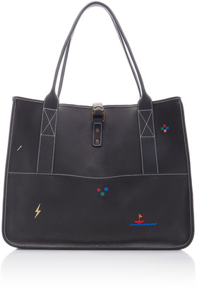 Nick Fouquet Bungalow Embroidered Leather Tote