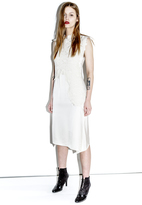 3.1 Phillip Lim Destroyed Lace Sleeveless Dress with Charmeuse Skirt