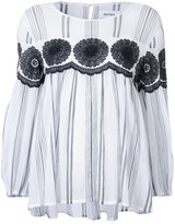 Muveil macramé panel blouse