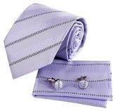 Purple Striped Holidays Gift Silk Necktie Handkerchiefs Cuffilinks Tie Set Designer Presents By Epoint