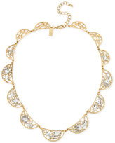 INC International Concepts M. Haskell for Gold-Tone Crystal Web Necklace, Only at Macy's