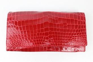Loewe Red Crocodile Wallets