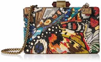 Mary Frances Women's Modern Butterfly Beaded Crossbody Handbag Evening Bag