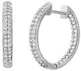 Bliss Sterling Silver & Cubic Zirconia Hoop Earrings