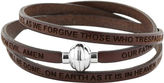JCPenney FINE JEWELRY Stainless Steel Inspirational Leather Bracelet