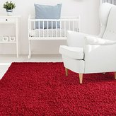 iCustomRug Affordable Shaggy Rug Dixie Cozy & Soft Kids Shag Area Rug Solid Color Red, For Children's Play Area, Bedroom or Nursery Carpet 9 Feet x 12 Feet (9' x 12')