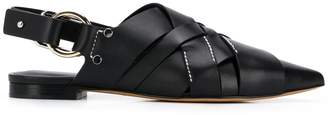 3.1 Phillip Lim Deanna woven pointed flat