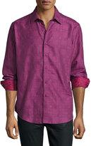 Robert Graham Captain Long-Sleeve Sport Shirt, Raspberry