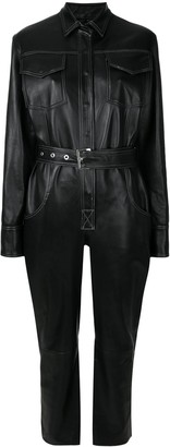 Manokhi Leather Utility Jumpsuit