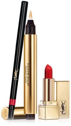 Saint Laurent Lip Essentials 3-Piece Kit - $91 Value