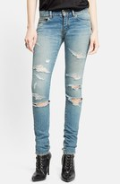 Saint Laurent Women's Destroyed Skinny Jeans