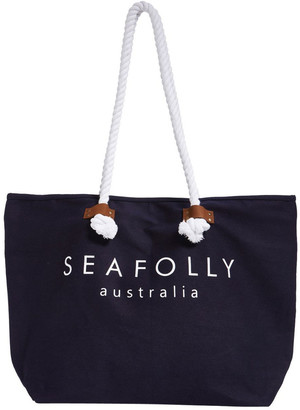 Seafolly Carried Away Ship Sail Tote Bag