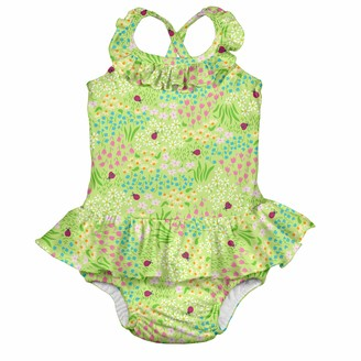 i play. by green sprouts Girls' Toddler One-Piece Swimsuit with Built in Reusable Swim Diaper