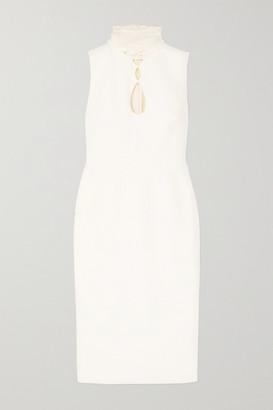 Roksanda Ilexa Cutout Chiffon-trimmed Crepe Midi Dress