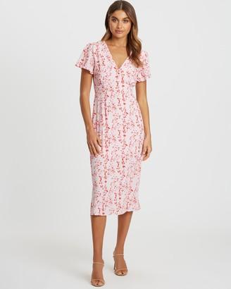 Tussah Dahlia Midi Dress