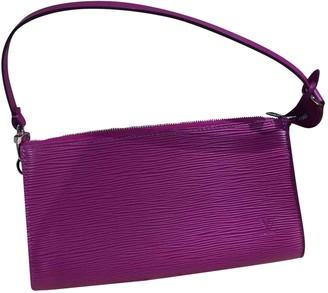 Louis Vuitton Pochette Accessoire Purple Leather Clutch bags