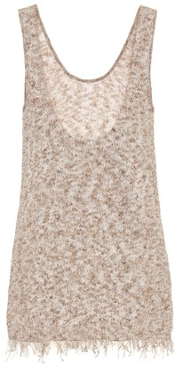 Alanui Exclusive to Mytheresa Cotton-blend knit tank top