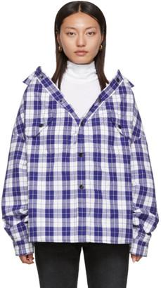 Balenciaga Blue Check Swing Canadian Jacket