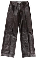 Jil Sander Leather Wide-Leg Pants