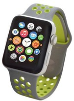 Apple Nike+ Watch Series 2 38mm Silver Aluminum Case With Volt Nike Sport Band.