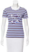 See by Chloe Striped Logo Top