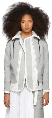 Sacai Grey Spongy Sweatshirt Jacket