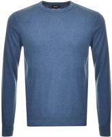 Giorgio Armani Jeans Knitted Crew Neck Jumper Blue